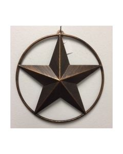 Texas Decor - Metal Star With Ring A12005