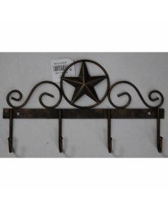 Texas Decor - Metal Hanging Hooks Star w/ Ring A13002