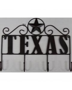 Texas Decor - Metal Texas Hanging Hook Star A13009