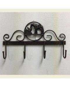 Texas Decor - Metal Praying Cowboys Hanging Hooks A15006