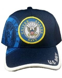 United States Navy Military Hat with Seal - Blue NV1
