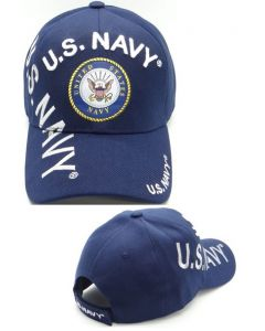 United States Navy Hat- ''U.S. NAVY'' w/Seal and Shadow CAP1403