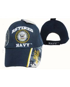 """United States Navy Hat """"RETIRED NAVY"""" Seal-NVY BL CAP592"""