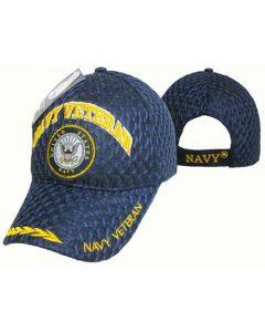 "United States Navy Military Hat ""NAVY VETERAN"" Seal/Mesh Leaf CAP592A"