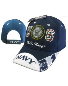 "United States Navy Hat ""US w/SEAL"" Navy BL CAP602E"