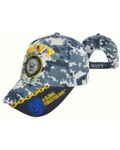United States Navy Hat w/Seal Global Force-Digi CAP602MC