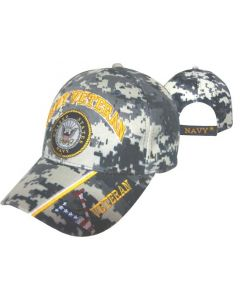 "United States ""NAVY VETERAN'' Seal V/Flg Bill - Digital BL CAP592BC"