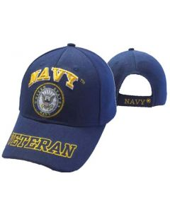 "United States ""NAVY"" Hat w/Seal ""VETERAN"" Bill - NV CAP592DA"