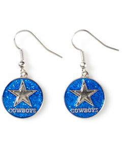 NFL Dallas Cowboys Glitter Dangle Earrings