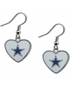 NFL Dallas Cowboys Heart Earring With Star