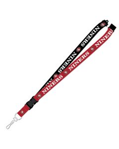 "NFL San Francisco 49ERS ""NINERS'' TowTone Lanyard"