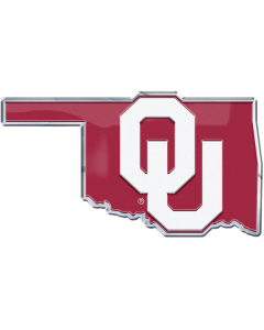 NCAA - University Of Oklahoma- OU State Outline Emblem