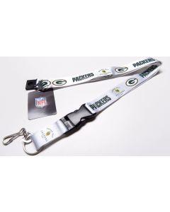 NFL Green Bay Packers Throwback Lanyard-White
