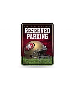 NFL San Francisco 49ers Metal Parking Sign