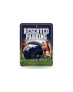 NFL Denver Broncos Metal Parking Sign