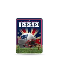 NFL New England Patriots Metal Parking Sign