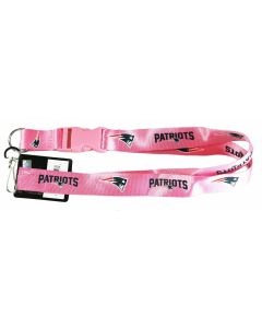 NFL New England Patriots Lanyard Pink