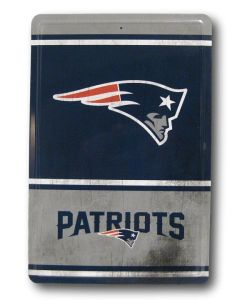 NFL New England Patriots Tin Sign