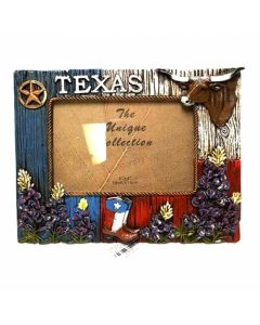 Texas Decor - Poly Texas / Bluebonnet Picture Frame XF-S0001