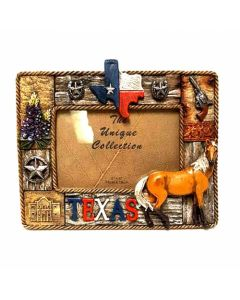 "Texas Decor - Poly ""Texas & Horse"" Picture Frame XF-S0002"