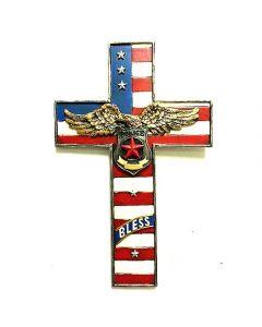 Texas Decor - Poly Police Cross XF-R0015