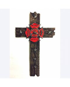Texas Decor - Poly Fire Rescue Cross YC162437Y