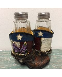 Texas Decor - Poly TX Bluebonnet Salt & Pepper Set YC171044