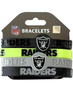 NFL Oakland Raiders Bracelet 4pc Set