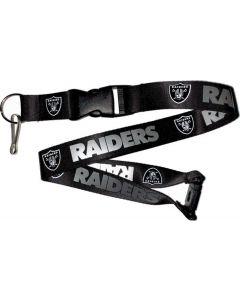 NFL Las Vegas Raiders Lanyard - Black/Silver