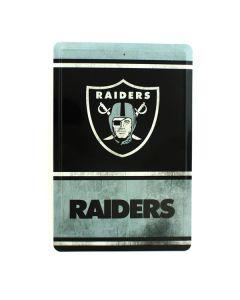 NFL Oakland Raiders Tin Sign