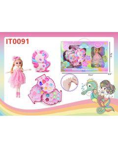 Rainbow Unicorn w/Doll IT0091