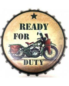 Texas Decor - Metal Bottle Cap- Ready For Duty