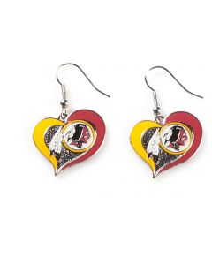 NFL Washington Redskins Earrings Heart Swirl