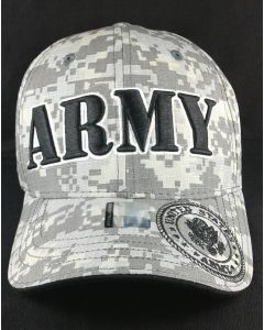 "United States ""ARMY"" Hat With Seal-ACM (Large Black Text Embroid.)"