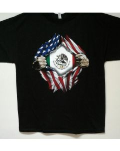 T-Shirt - USA/Mexico Flag