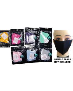 Face Mask - Washable ASST. COLOR SOLD BY THE DOZEN