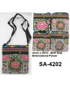 Purse - Rose Embroidered Crossbody SA-4202