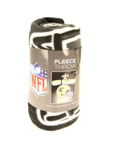 NFL New Orleans Saints Fleece Throw Blanket