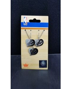 NBA San Antonio Spurs Heart Earring and Pendant (Necklace)