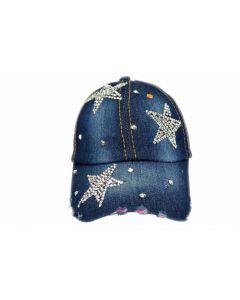 Cap Rhinestone 3 Star 18485