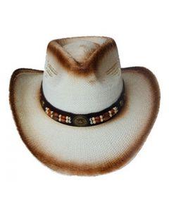 Straw Hat - 3630H Wood Bead
