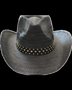 Straw Hat - 3630J Black/Stud