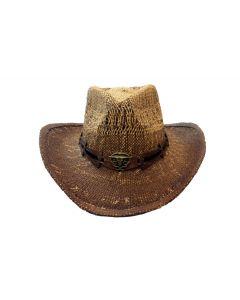 Straw Hat - Brown Longhorn 3634B