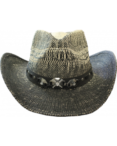Straw Hat - Crystal Black 3634C