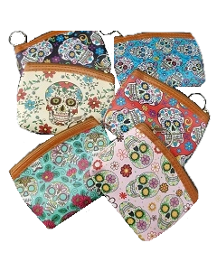 Sugar Skull Coin Purse - BKC-60222A SOLD BY THE DOZEN