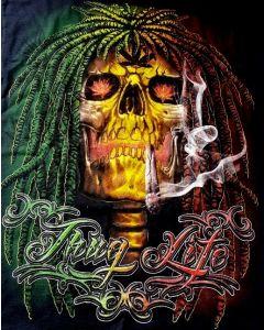 T-Shirt - Thug Life/Skull w/Dreads