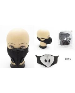 Face Mask- 2 Valve-BLK SOLD BY THE DOZEN