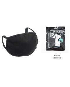Face Mask- Cotton -BLACK - Bad Boy (NO VALVE/FILTER) SOLD BY DOZEN