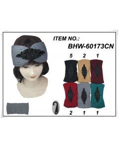 Head Wrap - BEAD  BHW60173CN SOLD BY DOZEN