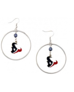 NFL Houston Texans Earrings - Hoop